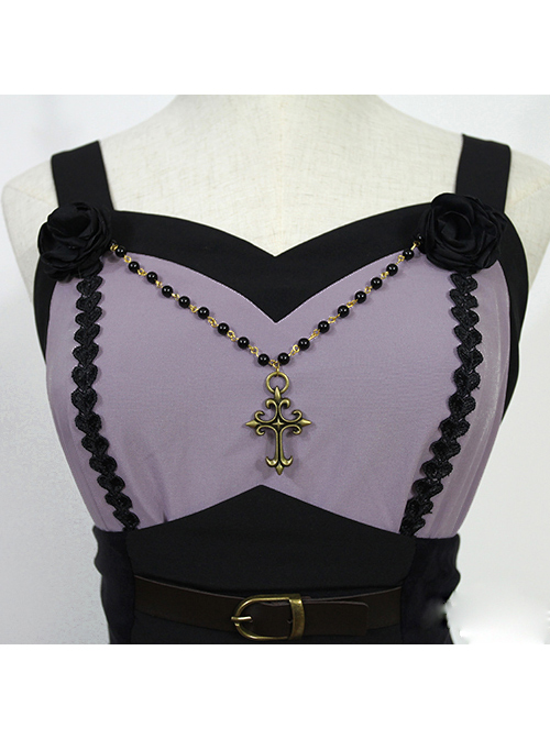 Seraph Night Series Elegant Gothic Lolita Sling Dress