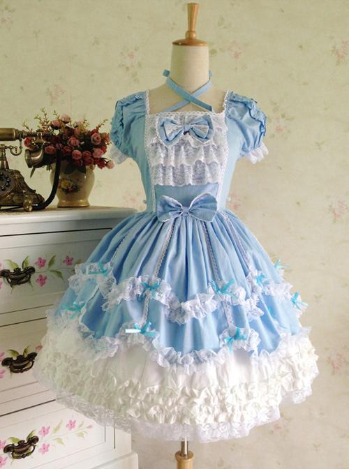 Cute Lace Elegant Sweet Lolita Short Sleeves Dress