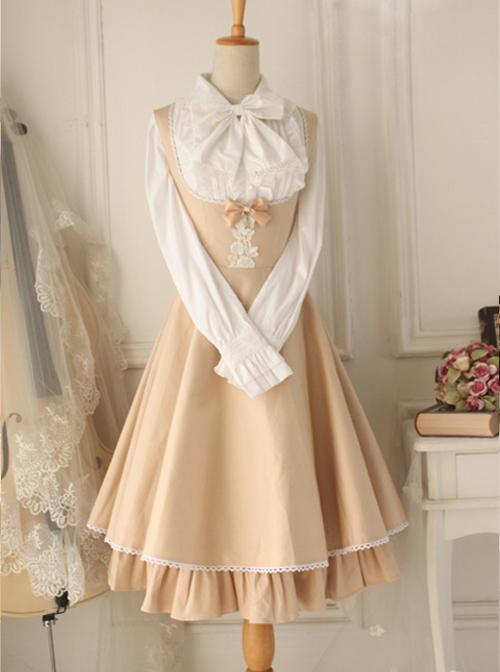 Versailles Rose Retro Elegant Classic Lolita Sleeveless Dress