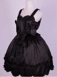 Pure Color Bowknot Cute And Sexy Classic Lolita Sling Dress