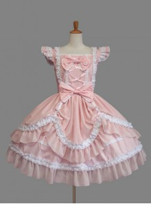 Cute Cotton Sleeveless Lace Classic Lolita Dress