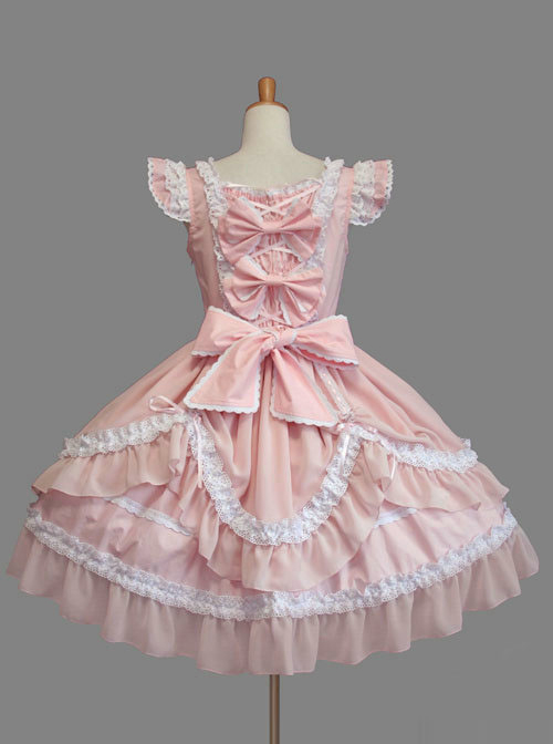 Cute Cotton Sleeveless Lace Classic Lolita Dress