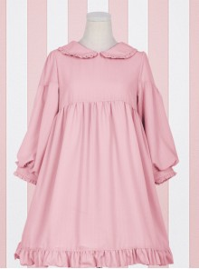 Doll Collar Ruffle Chiffon Sweet Lolita Long Sleeve Dress