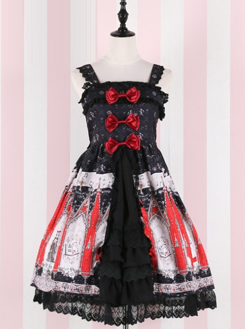 The Traveler's Hymn Series Middle-waisted Bowknot Sweet Lolita Sling Dress
