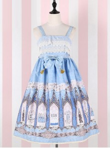 The Traveler's Hymn Series High Waist Bowknot Classic Lolita Sling Dress