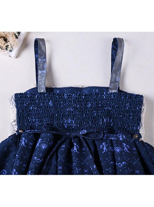 The Traveler's Hymn Series High Waist Bowknot Classic Lolita Sling Dress