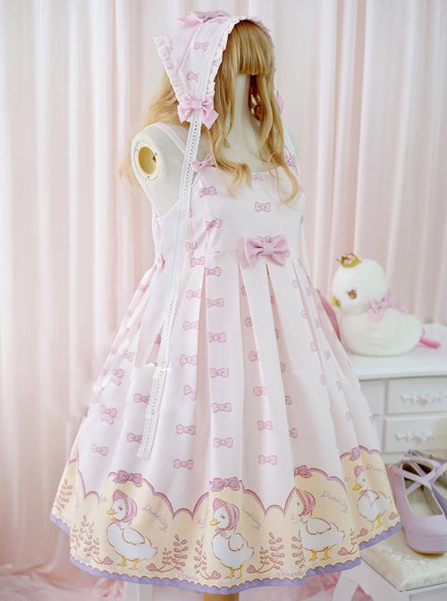 Pink Lovely Sleeveless Bowknot Sweet Lolita Dress