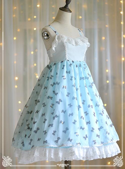 Bronzing Bowknot Pattern Classic Lolita Sling Dress