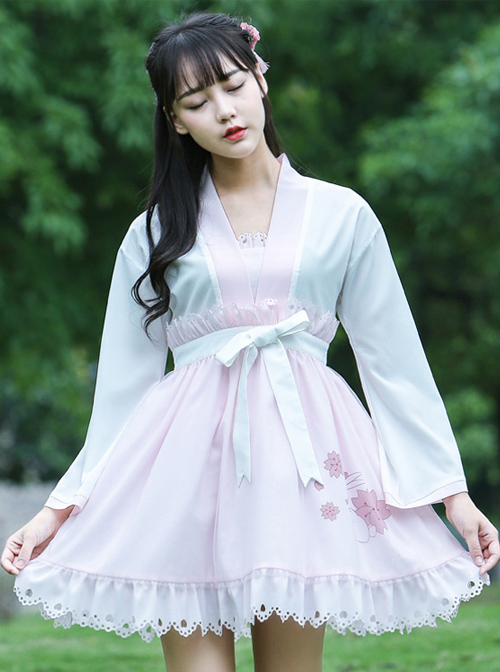 Pink Bows Ruffles Cute Sweet Lolita Dress