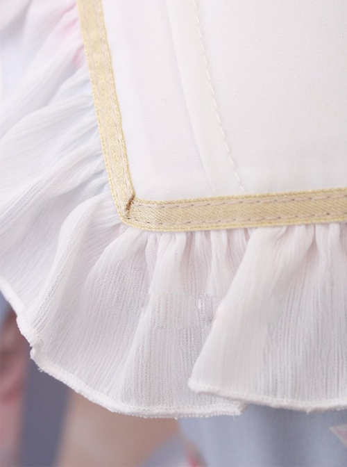 Oil Painting Angel Series Bowknot Classic Lolita Long Sleeve Dress
