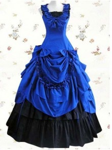 Elegant Ruffled Bowknot Lolita Prom Sleeveless Dress