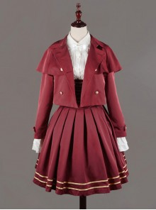 Neverland Lolita,Nancy Clara Academy~ College School Lolita Short Coat