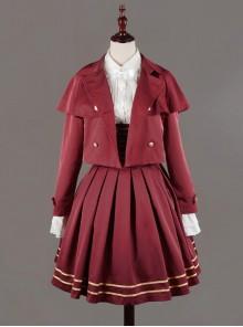 Neverland Lolita,Nancy Clara Academy~ College School Lolita Short Coat
