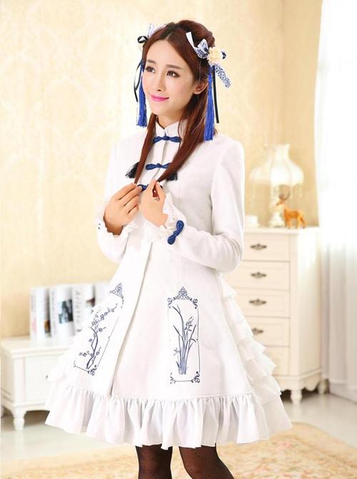Dream of Loita Emboridery Lolita Coat with Cape