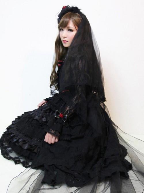 New Version Gorgeous Lolita Long Sleeves OP Dress