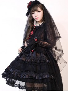 New Version Gorgeous Lolita Long Sleeves OP Dress