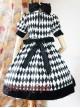 Surface Spell Illusion Realizer Gingham High Waist Lolita OP Dress