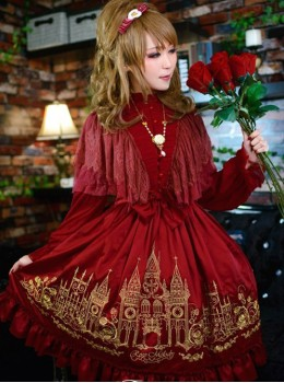 Rose Melody Glorious Castle Embroidery OP Dress