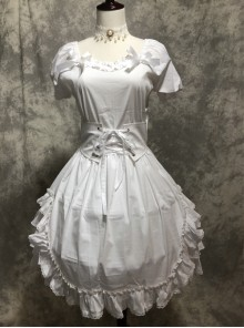 White Short Puff Sleeves Sweet Lolita Dress