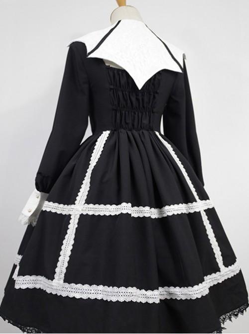 Devil's Wing Black Long Sleeve Gothic Lolita Dress