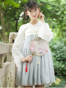 Vintage Classic High Waist Qi Lolita OP Dress