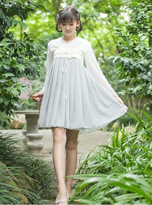 Vintage Classic High Waist Qi Lolita OP Dress