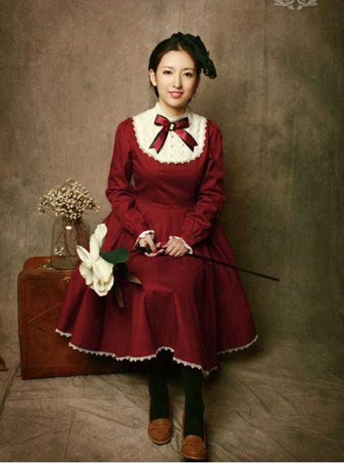 Miss Point The Castle Girl Vintage Classic Lolita OP Dress