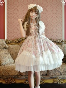 Neverland Lolita Antique Clock Sweet Lolita Puff Sleeves OP Dress