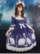 Neverland Lolita,Aquarius,Detachable Hime Sleeves High Collar OP Dress