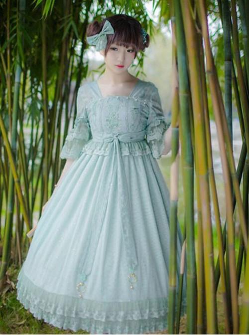 IchigoMikou,Drizzle & Thin Clouds~ Qi Lolita OP Dress