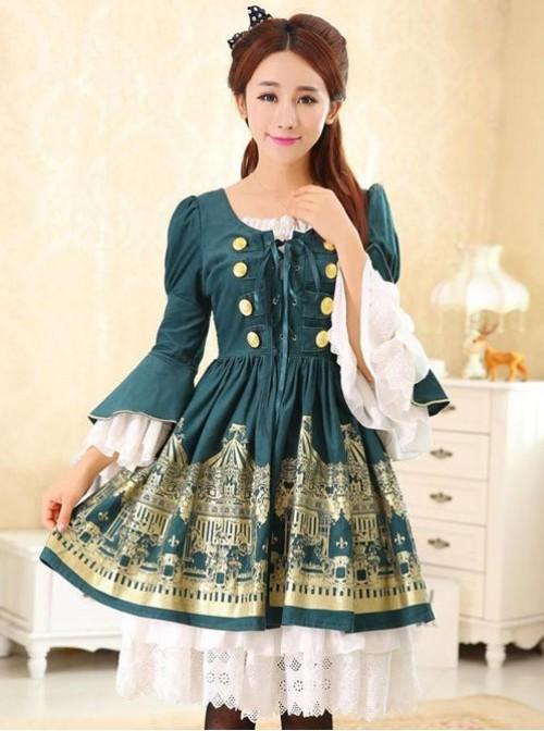 Dream of Lolita,Rotating Amusement Park~ Two Pieces Lolita OP Dress Set