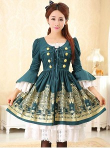 Dream of Lolita,Rotating Amusement Park~ Two Pieces Lolita OP Dress Set