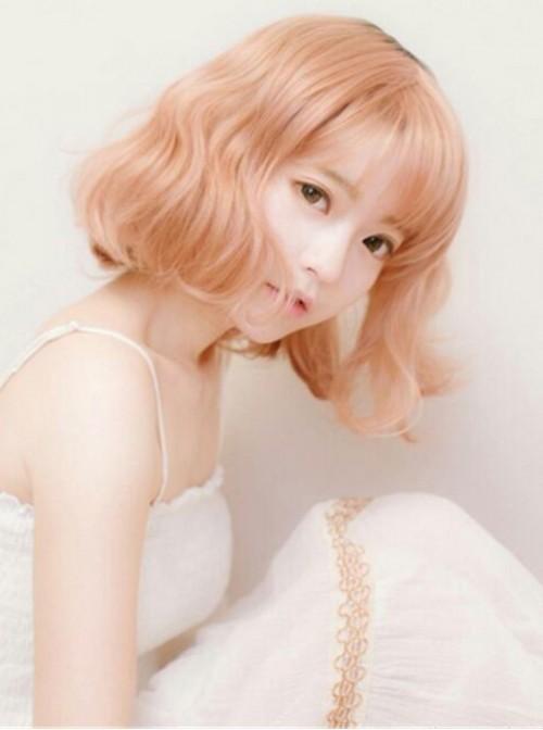 Sweet Girl's Lolita Short Curls Wig with Bangs