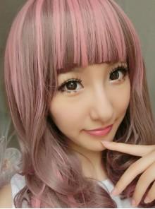 Ayumi Palre Red Pink Curls Loita Wig