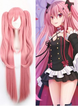 Gril's Anime Cosplay Long Wig With Two Ponytails