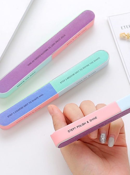 Manicure Tools Portable Six Sides Polishing Strip