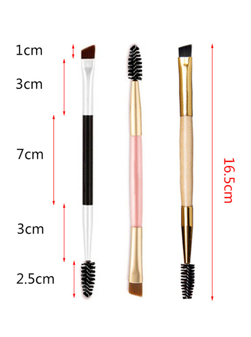 Eyebrow Brush Eyelash Brush Double Head Makeup Brush