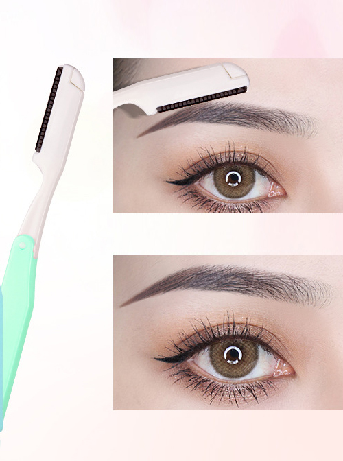 Three Colors Optional Portable Folding Eyebrow Razor