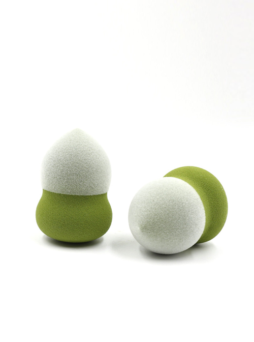 Dry Wet Dual-use Beauty Egg Makeup Puff Flocking Powder Puff