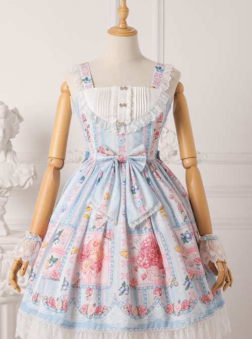 Blueberry Berry Series JSK Little High Waist Sweet Lolita Sling Dress