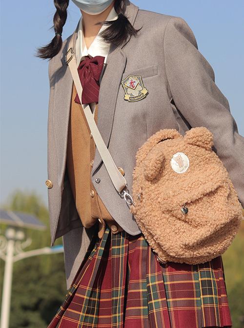 Milk Puff Bear Series Plush Cute Bear Sweet Lolita Bag