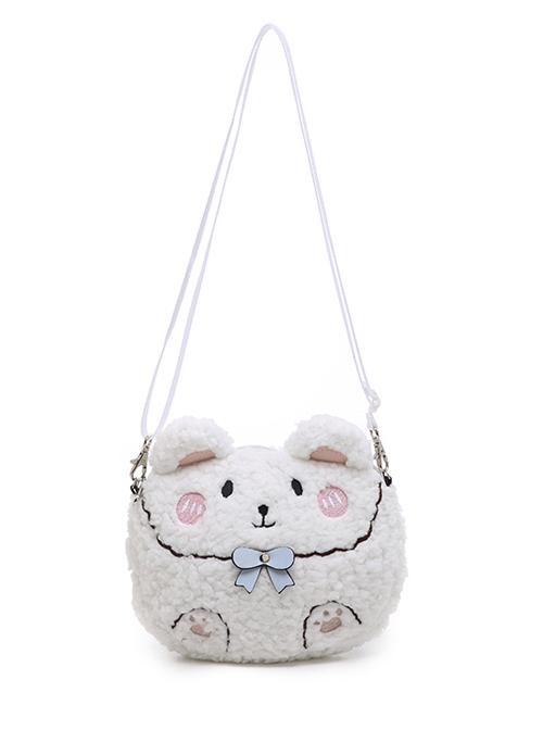 Cute Glutinous Rice Bear Plush Mobile Phone Small Bag Sweet Lolita Shoulder Bag
