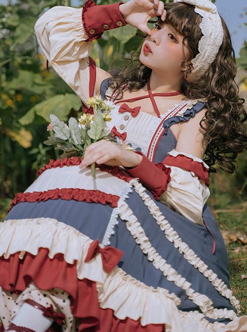 Chengnan Flowers Bloom Series JSK Pastoral Style Classic Lolita Long Sling Dress
