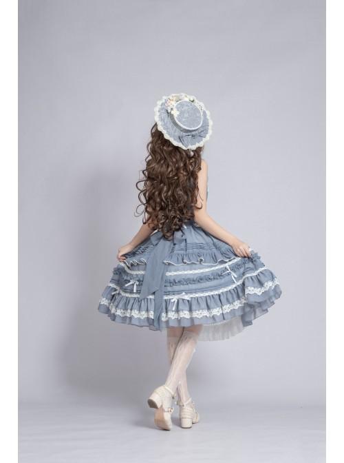 Hidden Mist Epiphyllum Aroma Series JSK Pastoral Style Classic Lolita Sling Dress