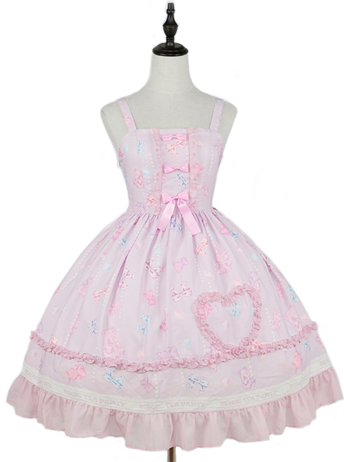 Jelly Bear Series JSK Printing Sweet Lolita Sling Dress