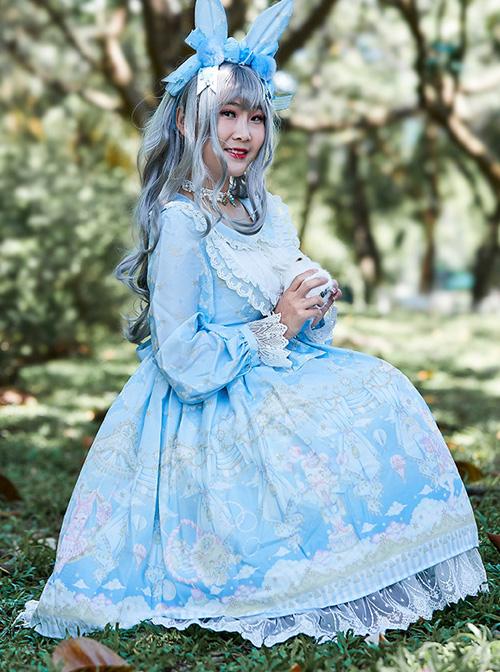 Ballet Rabbit Series OP Doll Collar Sweet Lolita Long Sleeve Dress