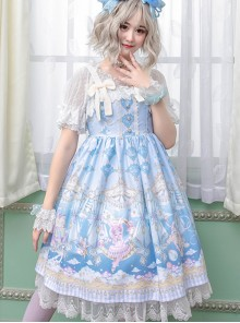 Ballet Rabbit Series JSK Bowknot Sweet Lolita Sling Dress