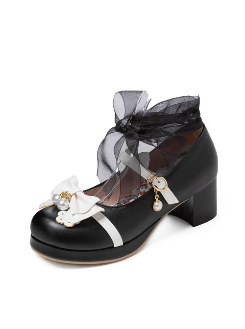 Thick Heel Cute Bowknot Sweet Lolita High Heel Shoes