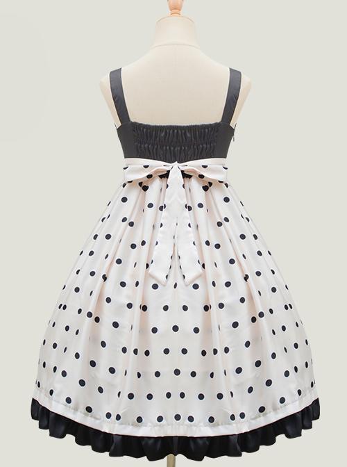 Baby Bear Series Dot Printing Sweet Lolita Sling Dress