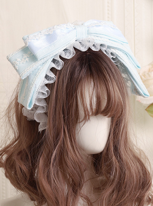 Cute Cloth Big Bowknot Lace Sweet Lolita Hairband Available In Multiple Colors